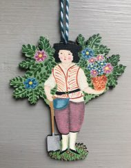 Garden Boy wooden decoration by Elizabeth Harbour