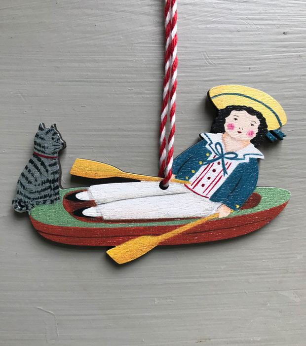 Row Boat wooden decoration by Elizabeth Harbour