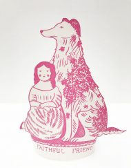 Original print 'Faithful Friend' greetings card by Elizabeth Harbour