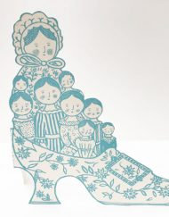 Original print 'Family Slipper' greetings card by Elizabeth Harbour