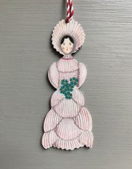 Miss Cockleshell wooden decoration by Elizabeth Harbour