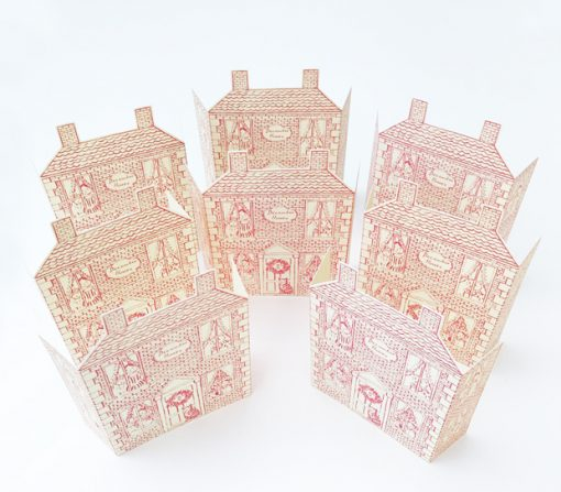 8 Press out Christmas house cards