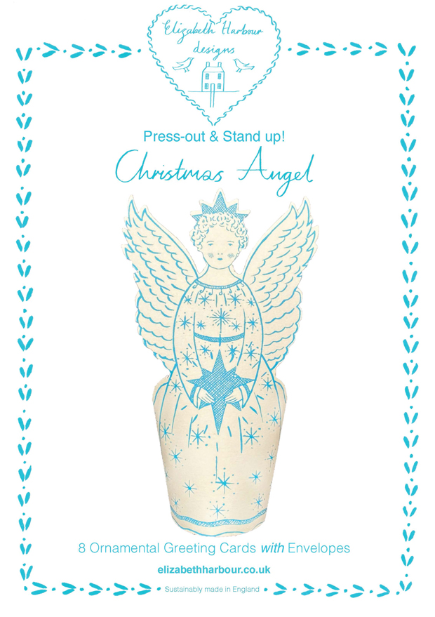 Eight Press out Christmas Angel cards
