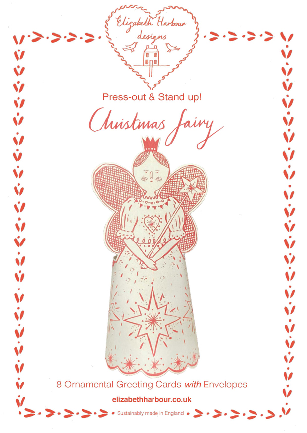 Eight Press out Christmas Fairy cards