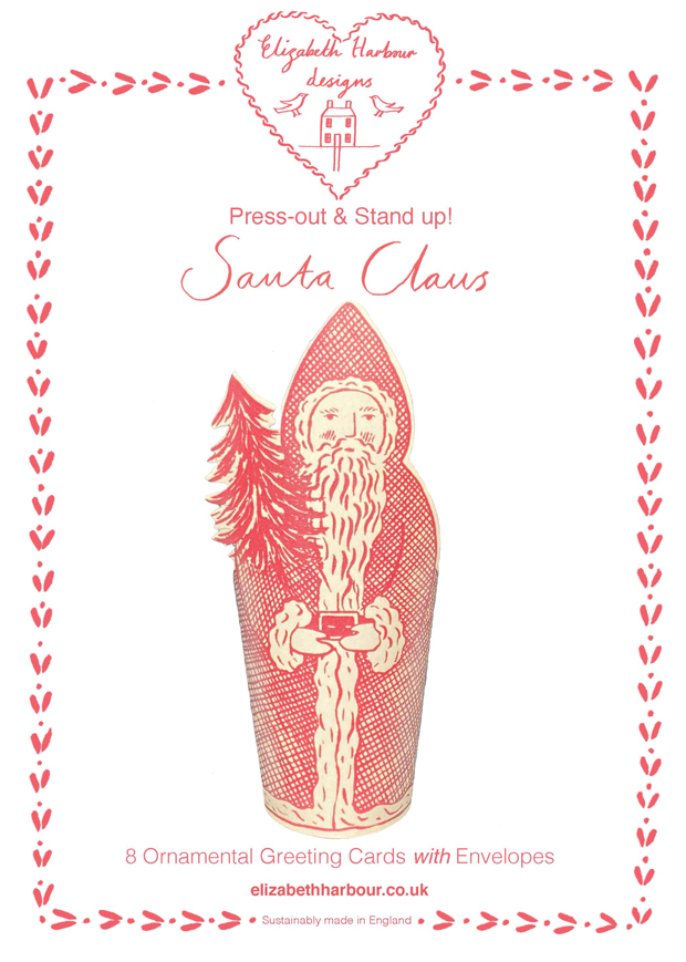 Eight Press out Santa Claus cards