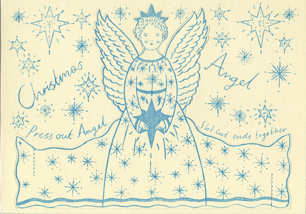 Press out Christmas Angel Card