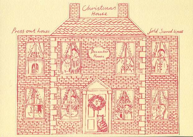 Press out Christmas House card